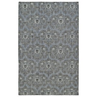 Hand-Knotted Vintage Graphite Ikat Rug (5'6 x 8'6)