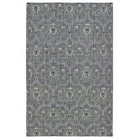 Hand-Knotted Vintage Graphite Ikat Rug - 5'6 x 8'6