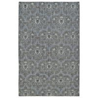 Hand-Knotted Vintage Graphite Ikat Rug - 8' x 10'