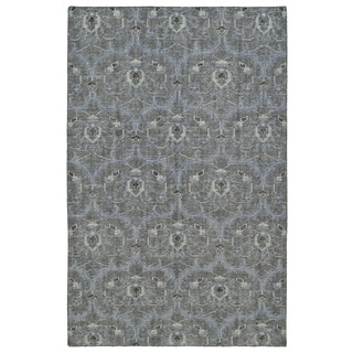 Hand-Knotted Vintage Graphite Ikat Rug (9'0 x 12'0)