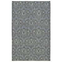 Hand-Knotted Vintage Graphite Ikat Rug - 9' x 12'