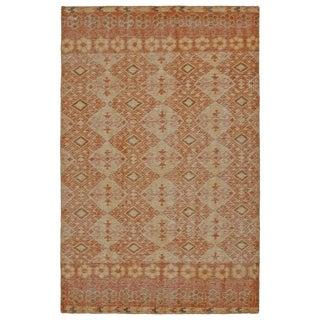 Hand-Knotted Vintage Orange Kilim Rug (4'0 x 6'0)