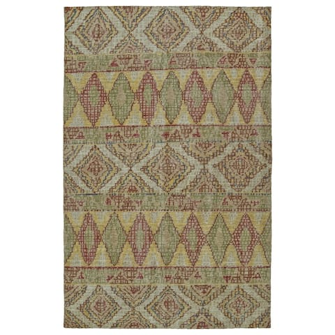 "Hand-Knotted Vintage Multi Boho Rug (5'6 x 8'6) - 5'6"" x 8'6"""