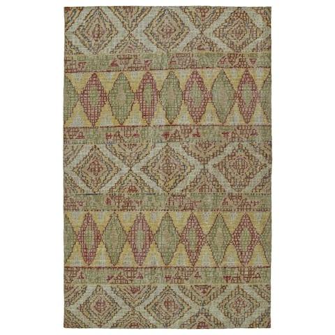 Hand-Knotted Vintage Multi Boho Rug (8'0 x 10'0) - 8' x 10'