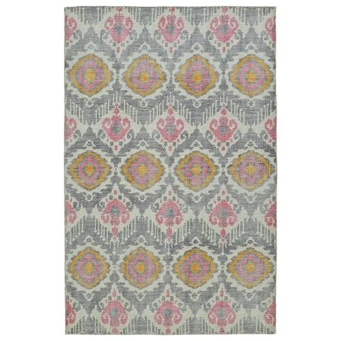 "Hand-Knotted Vintage Grey Boho Rug (5'6 x 8'6) - 5'6"" x 8'6"""