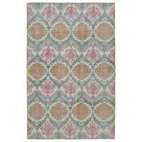 "Hand-Knotted Vintage Grey Boho Rug (5'6"" x 8'6"")"