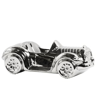 Ceramic Decorative Car Chrome Silver