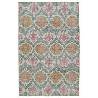 Hand-Knotted Vintage Grey Boho Rug (9'0 x 12'0)