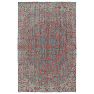 Hand-Knotted Vintage Pink Floral Rug (9'0 x 12'0)