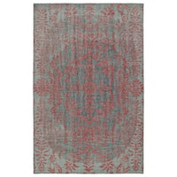 Hand-Knotted Vintage Pink Floral Rug - 9' x 12'