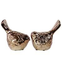 Bronze Ceramic Bird (Set of Two)
