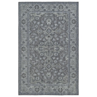 Hand-Knotted Vintage Grey Traditional Rug (4'0 x 6'0)