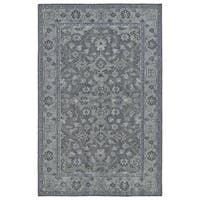 Hand-Knotted Vintage Grey Traditional Rug (4'0 x 6'0) - 4' x 6'