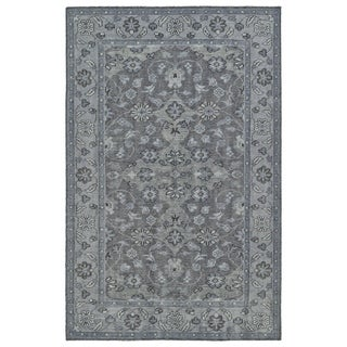 Hand-Knotted Vintage Grey Traditional Rug (5'6 x 8'6)