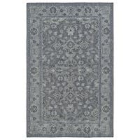 Hand-Knotted Vintage Grey Traditional Rug - 5'6 x 8'6