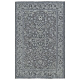 Hand-Knotted Vintage Grey Traditional Rug (9'0 x 12'0)