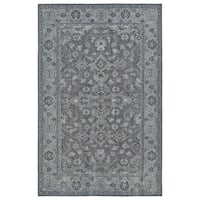 Hand-Knotted Vintage Grey Traditional Rug (9' x 12')