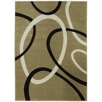 LYKE Home Contemporary Champagne Area Rug - 7'10 x 10'6