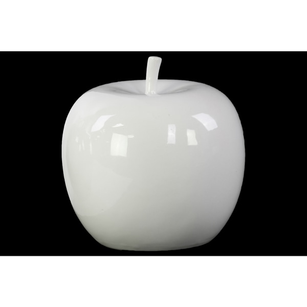 Shop Ceramic Apple White Free Shipping On Orders Over