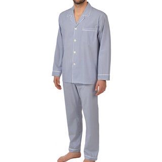 Majestic Men's Cobalt Woven Long Sleeve Pajama Set