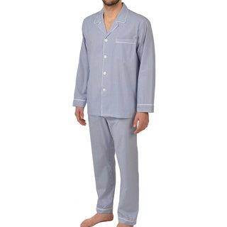 Majestic Men's Cobalt Woven Long Sleeve Pajama Set