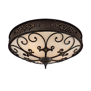 Capital Lighting River Crest Collection 3-light Rustic Iron Flush Mount