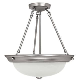 Capital Lighting Transitional 3-light Matte Nickel Semi Flush Mount