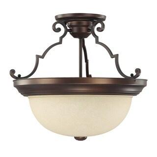 Capital Lighting Traditional 3-light Burnished Bronze Semi Flush Mount