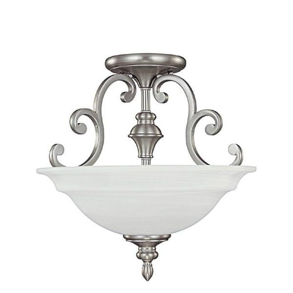 Capital Lighting Chandler Collection 3-light Matte Nickel Semi Flush Fixture