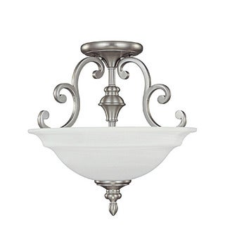 Capital Lighting Chandler Collection 3-light Matte Nickel Semi Flush Fixture