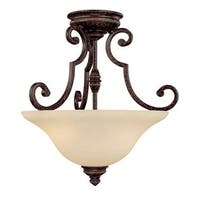 Capital Lighting Barclay Collection 2-light Chesterfield Brown Semi Flush Fixture
