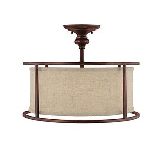 Capital Lighting Midtown Collection 3-light Burnished Bronze Semi Flush Fixture