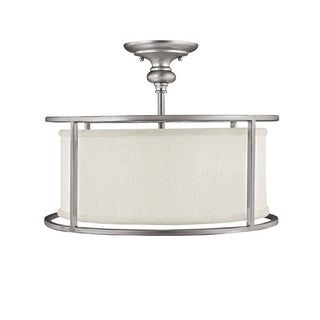 Capital Lighting Midtown Collection 3-light Matte Nickel Semi Flush Fixture