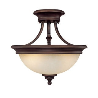 Capital Lighting Belmont Collection 2-light Burnished Bronze Semi Flush Fixture