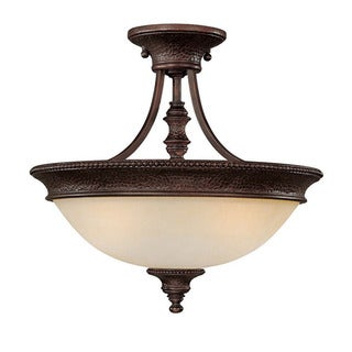 Capital Lighting Hill House Collection 2-light Burnished Bronze Semi Flush Fixture
