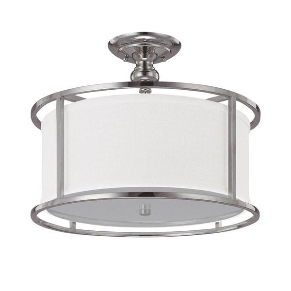 Capital Lighting Midtown Collection 3-light Polished Nickel Semi Flush Fixture