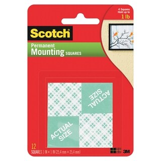Scotch Double Coated Foam Squares - 16/PK