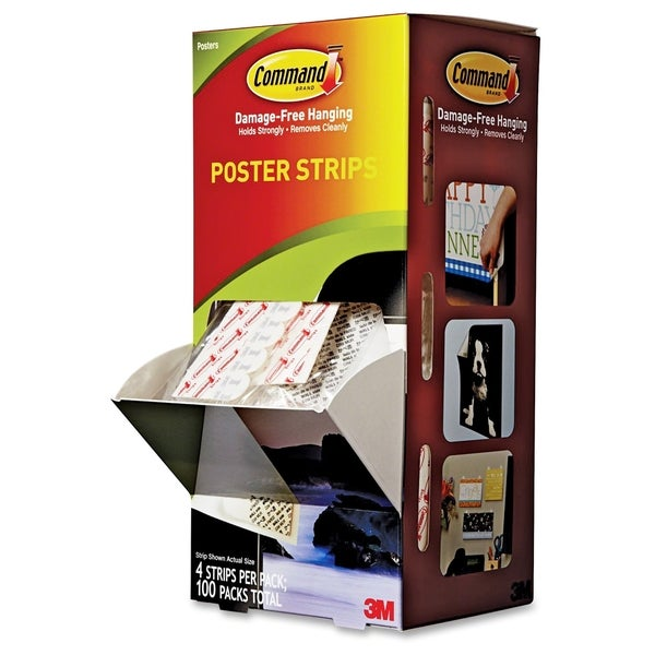 Shop Command Small Poster Strips Pack 100ct Free Shipping Today