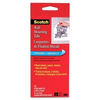 Scotch Removable Wall Mounting Tabs - 48/PK