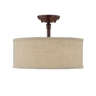 Capital Lighting Loft Collection 3-light Burnished Bronze Semi Flush Fixture