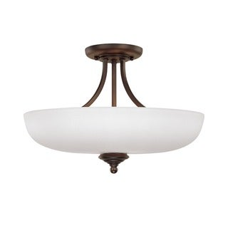 Capital Lighting Chapman Collection 3-light Burnished Bronze Semi Flush Fixture