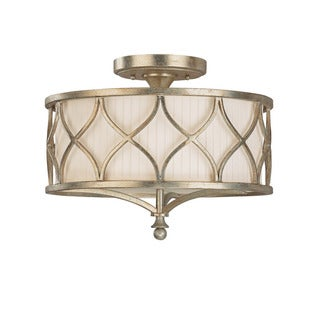 Capital Lighting Fifth Avenue Collection 3-light Winter Gold Semi Flush Fixture