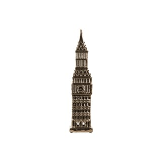 Urban Trends Collection Gold Ceramic Clock Tower Figurine