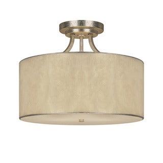 Capital Lighting Luna Collection 3-light Winter Gold Semi Flush Fixture