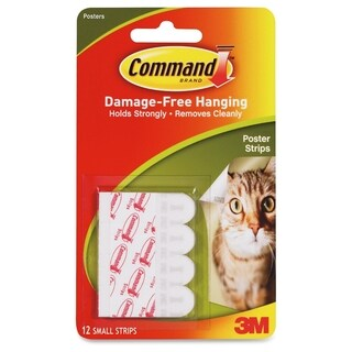 Command 11965110 Adhesive Poster Strip - 12/PK