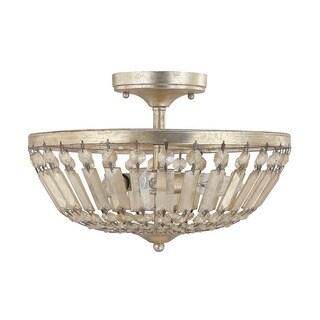 Capital Lighting Fifth Avenue Collection 3-light Winter Gold Semi Flush Fixture