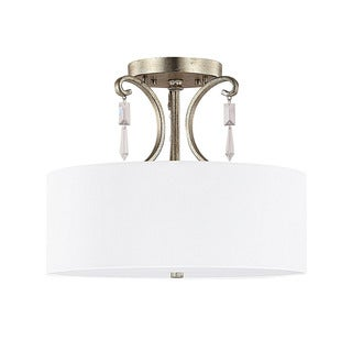 Capital Lighting Simone Collection 3-light Winter Gold Semi Flush Fixture