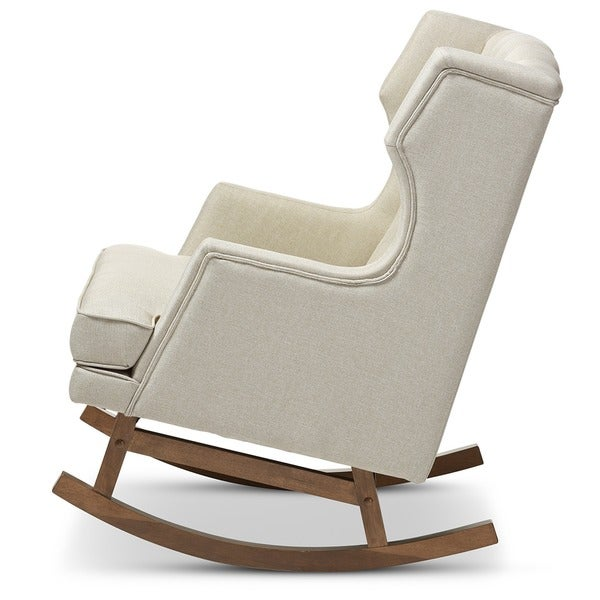 Contemporary Light Beige Fabric Rocking Chair By Baxton Studio   Free  Shipping Today   Overstock.com   17945870