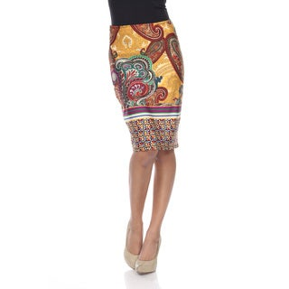 White Mark Women's Pretty and Proper Print Pencil Skirt (More options available)