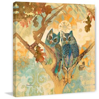 Marmont Hill - Parish Owls by Evelia Painting Print on Canvas